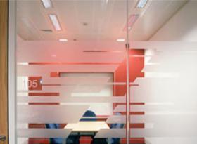 Single glazed partition system