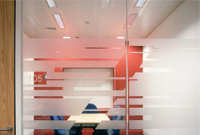 Single glazed partition system