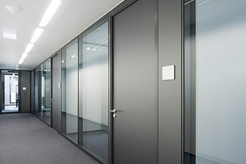 Aluminium framed glazed partitions